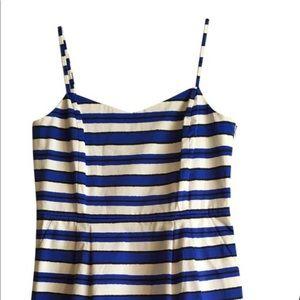 GAP Blue White Striped Sleeveless Dress